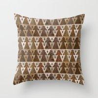 Mother Goddess Mosaic Throw Pillow