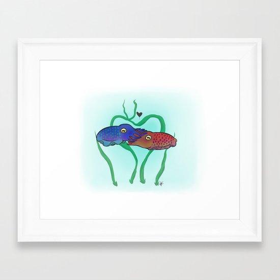 """""""Cuddlefish"""" Framed Art Print"""