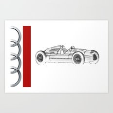 RennSport Speed Series: The Four Rings Art Print