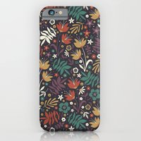 iPhone & iPod Case featuring Midnight Florals by Anna Deegan