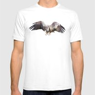 Arctic Eagle Mens Fitted Tee White SMALL