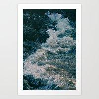 East River Bank - New Yo… Art Print