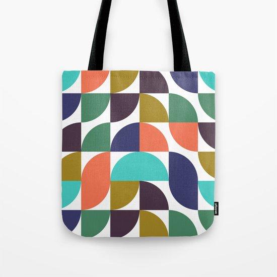 mod geo pattern Tote Bag