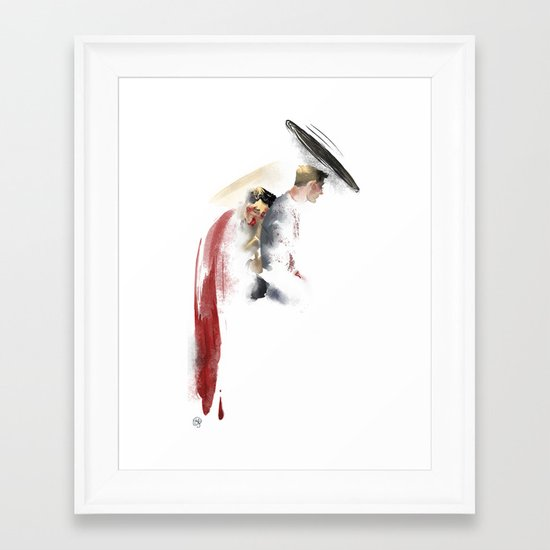 Say something Framed Art Print