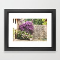 El muro Framed Art Print