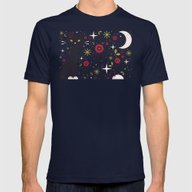 Cat & Mouse  Mens Fitted Tee Navy SMALL