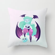 Lady Vampire Throw Pillow