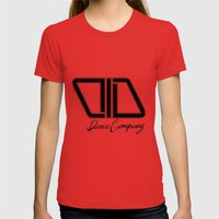 C.I.D black Womens Fitted Tee Red SMALL