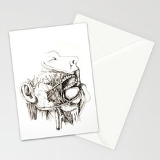 Anatomy: Study 1 Salivating Zombie Stationery Cards