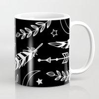 Feather & Arrow Pattern Mug