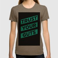 Trust Womens Fitted Tee Tri-Coffee SMALL