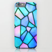 iPhone Cases featuring pastel stained glass by haroulita