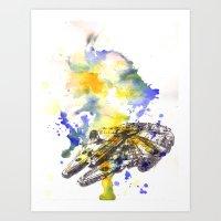 Star Wars Millenium Falc… Art Print