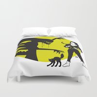 Alien Cartoon Style - Gr… Duvet Cover