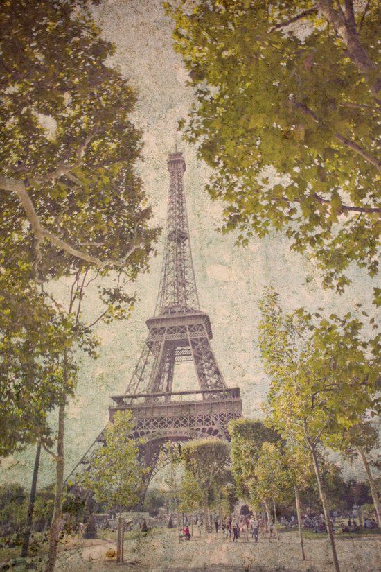 The painted Eiffel Art Print