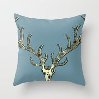 Antlers Throw Pillow