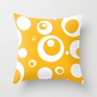 Circles Dots Bubbles :: Mango Throw Pillow