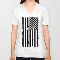 American Brain Flag Unisex V-Neck
