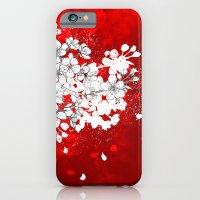 Red Skies And White Saku… iPhone 6 Slim Case