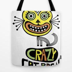 Crazy Cat Person Tote Bag