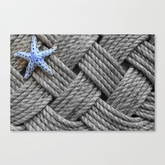 Starfish on the Ropes Canvas Print