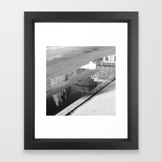 Downtown Reflection Framed Art Print
