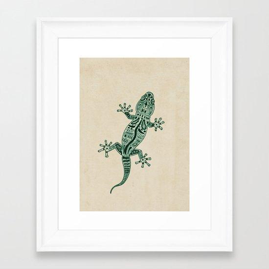 Ornate Lizard Framed Art Print
