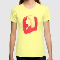 Pink Victorian Womens Fitted Tee Lemon SMALL