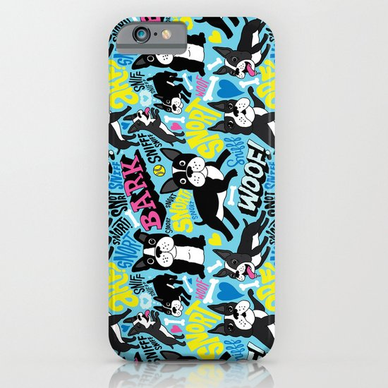 Boston Terrier Pattern iPhone & iPod Case