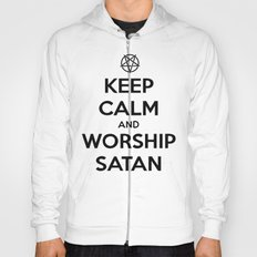 Keep Calm and Worship Satan Hoody