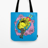 Tote Bag featuring Kiss Of Night and Day by W.H.Tham
