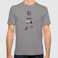 8-bit Love (NES) Mens Fitted Tee Tri-Grey SMALL