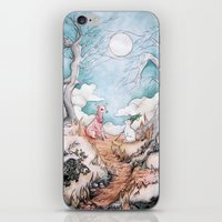The Tale Of Cat And Fawn iPhone & iPod Skin