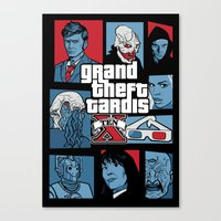 Grand Theft Tardis Ten Canvas Print