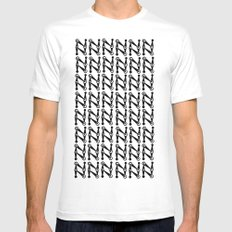 Eyes White SMALL Mens Fitted Tee