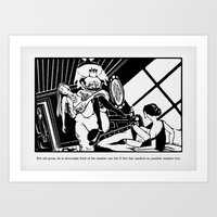 he's fair mashed on peaches number two Art Print