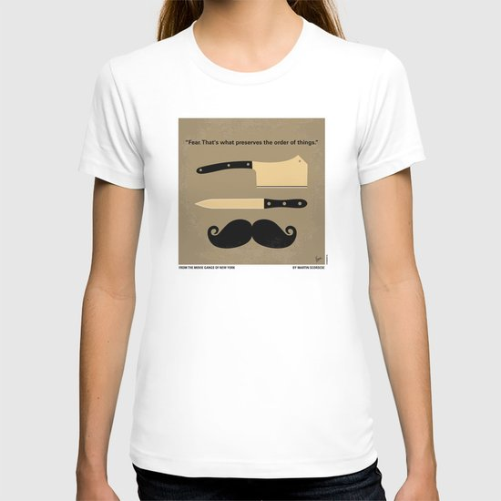 No195 My Gangs of New York minimal movie poster T-shirt