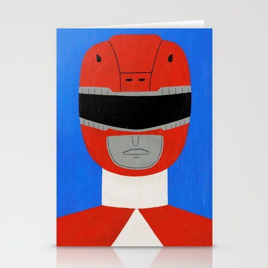 Red Ranger Stationery Card