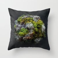 The Moss Globe Throw Pillow