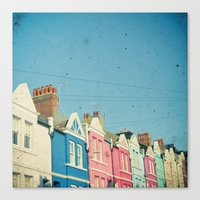 Rainbow Street Canvas Print
