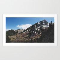 Utah Mountains Art Print