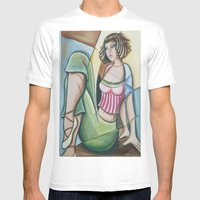 Dancer at rest Mens Fitted Tee White SMALL