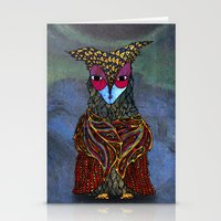 Owl-Girl Stationery Cards