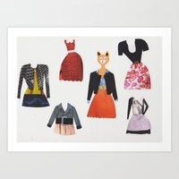 What Shall I Wear Today? Art Print