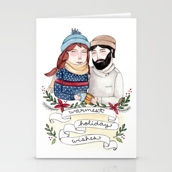 Warmest Holiday Wishes Stationery Card