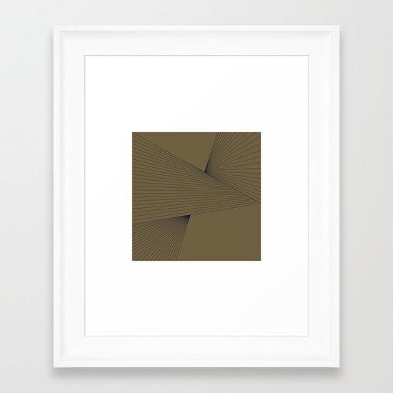 #305 Tension – Geometry Daily Framed Art Print