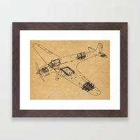 Airplane Diagram Framed Art Print