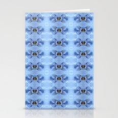 Pastel Blue Flower Patte… Stationery Cards