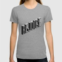 Rejoice Womens Fitted Tee Tri-Grey SMALL