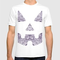Pumpkin Artwork Mens Fitted Tee White SMALL